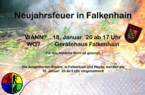 Neujahrsfeuer in Falkenhain